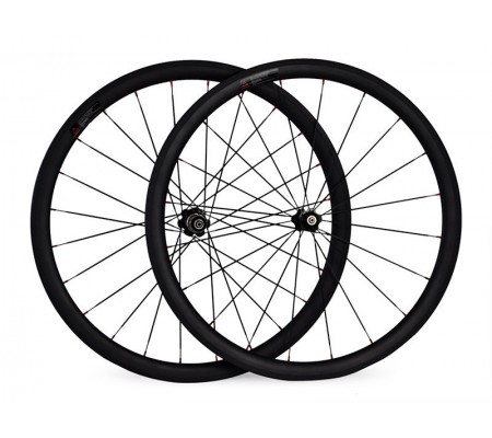 700c 35mm supperlight ceramic bearing hub carbon bike wheel,tubular or clincher optional