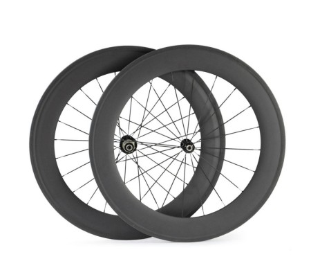 700c 82mm supperlight carbon bike wheel,tubular or clincher optional